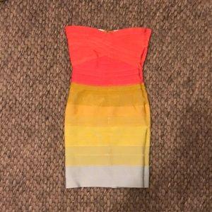 Unbranded bandeau bandage dress like Herve Leger